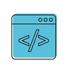 coding window web programming development vector image