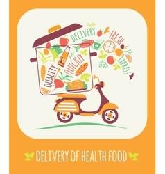 Delivery of a healthy food vector