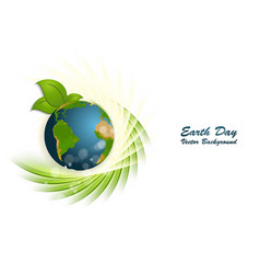 earth day background vector image vector image