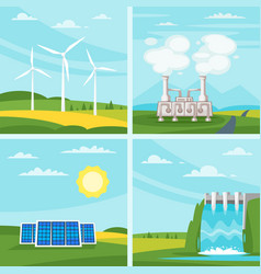 environmental and ecology concept vector image