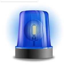 Flasher siren design element vector