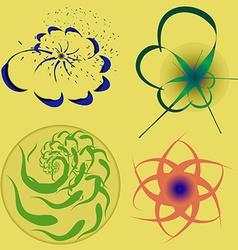 Floral logo vector