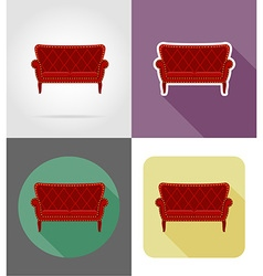 furniture flat icons 26 vector image vector image