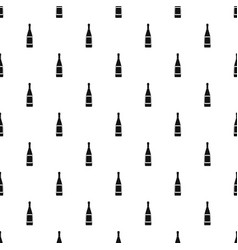 glass bottle pattern vector image vector image