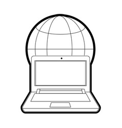 Isolated laptop design vector