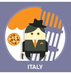 Italian mafia men in a suit vector