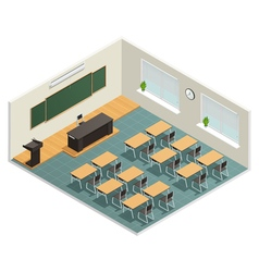 Lecture room interior poster vector