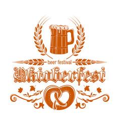 oktoberfest logotype design vector image vector image