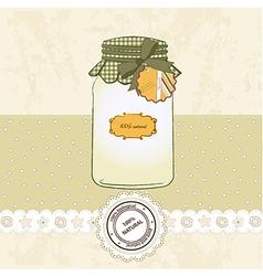 Pure biological food jar vector