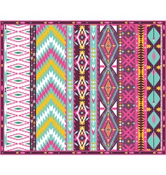 Seamless colorful aztec geometric pattern vector