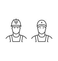 Set of builders line icons vector image vector image