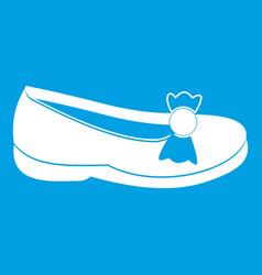Shoe icon white vector