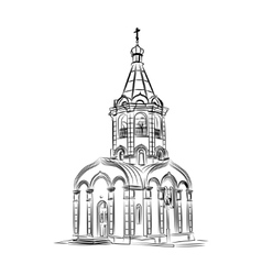 Silhouette of a Russian chapel vector image