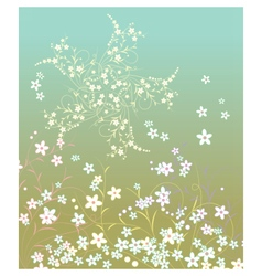 Summer retro flowers pattern vector