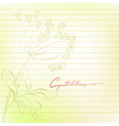 template for note paper vector image