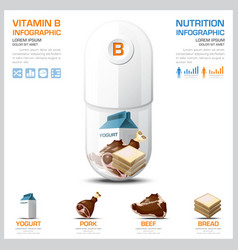 Vitamin b chart diagram health and medical vector
