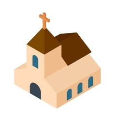 Wedding chapel isometric 3d icon vector image vector image
