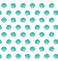 Shell flat pattern vector