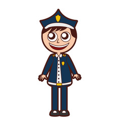 Man police officer avatar character vector