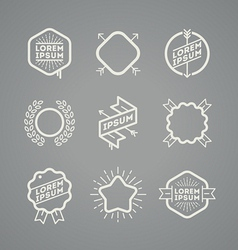 Set with simple hipster emblems vector image