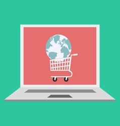 Global online shopping concept vector