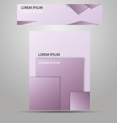 Stylish layout corporate identity vector