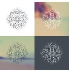 Set of Ornament round mandalas vector image