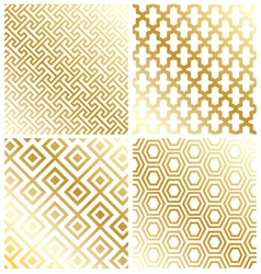 Royal gold geometric pattern background vector