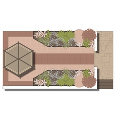 Landscaping patio area vector