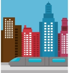 Buildings concept design vector
