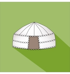 Yurt of nomads vector