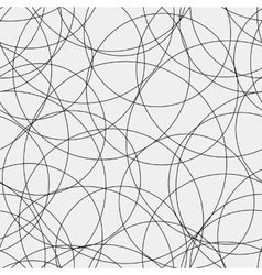 Pattern abstract seamless monochrome curves vector