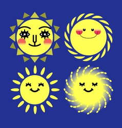sun sets vector image
