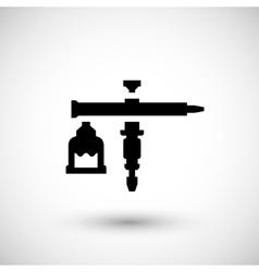 Aerographic gun icon vector