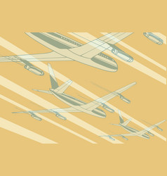 air transport in the sky travel background vector image