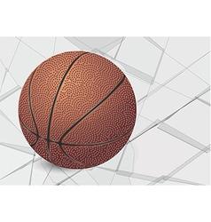 basketball ball and glass vector image vector image