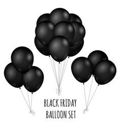 Black friday flight rubber balloons bouquet vector