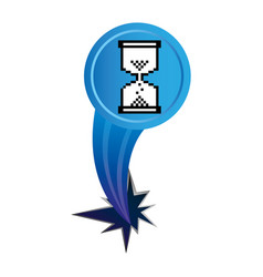 Blue hourglass cursor with hole icon vector