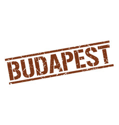 Budapest brown square stamp vector