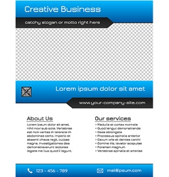Business multipurpose flyer template - blue vector