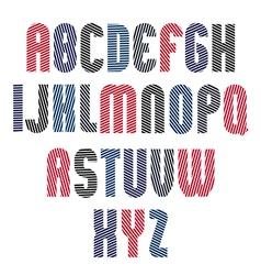 Decorative striped retro font geometric bright vector