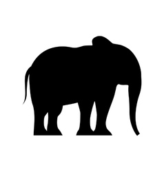 Elephant silhouette isolated icon vector