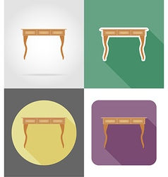 Furniture flat icons 27 vector