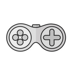 gamepad videogame console vector image vector image