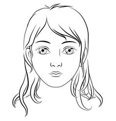 girl portrait sketch vector image