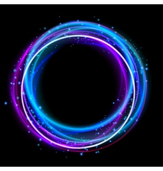 Glowing circle light effect nightclub lights halo vector