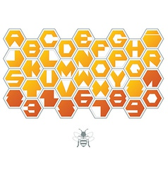 Hexagon Alphabet vector image