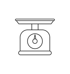 kitchen scale balance vector image