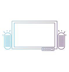 line television to entertainment with speaker vector image