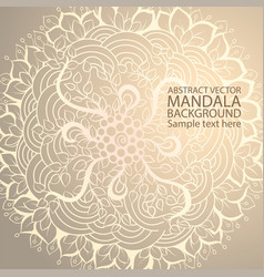 Mandala simple thin line stylish background vector